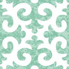 Free Seamless Shyrdak Fleur De Lis Background Pattern Stock Image - 29721931