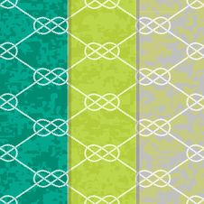 Free Set Of Three Seamless Figure 8 Background Patterns Royalty Free Stock Photo - 29721965
