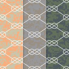 Free Set Of Three Seamless Figure 8 Background Patterns Stock Photography - 29721972