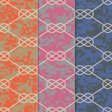 Free Set Of Three Seamless Figure 8 Background Patterns Royalty Free Stock Images - 29721979