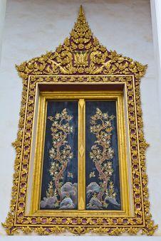 Free Thai Style Window Of Temple Royalty Free Stock Photos - 29724878