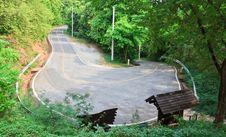 Free U-turn Asphalt Road In National Park At Thailand Royalty Free Stock Photos - 29725238