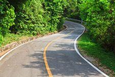 S-Curve Asphalt Road View. Royalty Free Stock Photos