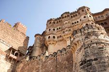 Free Mehrangarh Fort Walls In Jodhpur, Rjasthan, India Stock Images - 29728364