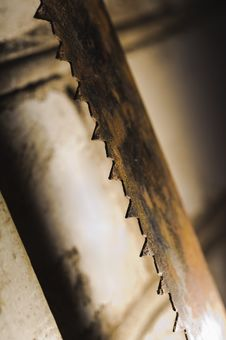 Free Metal Saw Blade. Abctract Photo. Work Tools Royalty Free Stock Images - 29730819