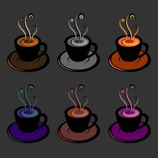 Free Coffee Cups Royalty Free Stock Photo - 29732445
