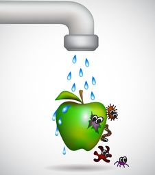 Free Washing An Apple Royalty Free Stock Images - 29734709