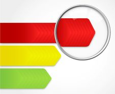 Free Magnifying Glass Showing Speed Bar Stock Photos - 29737663