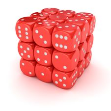 Free Big Dice Royalty Free Stock Image - 29738036