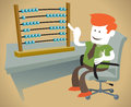 Free Corporate Guy Is Counting On His Abacus Royalty Free Stock Photography - 29742267
