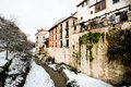 Free Snow Storm With Slush On Sidewalks. Granada Royalty Free Stock Image - 29746206