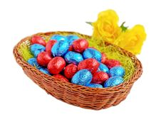Free Easter Eggs In Basket Stock Photo - 29741840