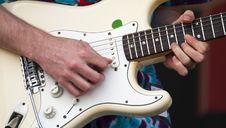 Guitar Pickin  Royalty Free Stock Photos