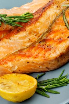 Grilled Salmon Stock Photography