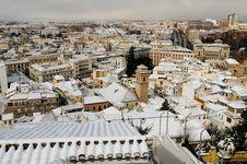Free Snow Storm With Slush On Sidewalks. Granada Stock Photography - 29746242