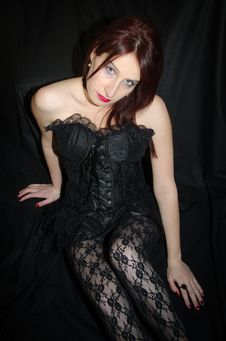 Free Sexy Woman With Gothic Corset Stock Photos - 29755293