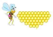 Free Bee And Honeycomb Royalty Free Stock Images - 29756779