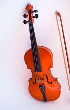 Free Violin On A White Background Stock Photos - 29758113