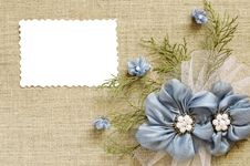 Free Background With A Flower Arrangement And A Card Royalty Free Stock Photography - 29759817