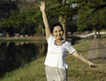 Free Woman Doing Morning Exercises In The Park Royalty Free Stock Photos - 29764158