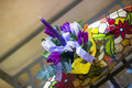 Free Purple Tulips And Candle In Easter Ornament Stock Image - 29767781