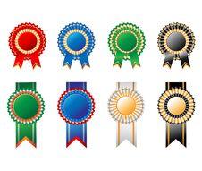 Free Rosettes Ribbon Set Royalty Free Stock Images - 29764689