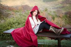 Free Young Woman With Red Hood Royalty Free Stock Photo - 29765435
