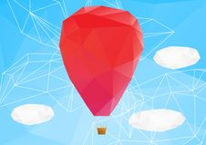 Free Hot Air Ballon, Poplygonal Vector Illustration Royalty Free Stock Photos - 29765908