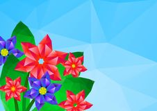 Free Geometrical Polygonal Hipster Flower Card Royalty Free Stock Photos - 29765928