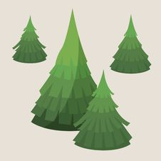 Free Realistic Fluffy Fir-trees Royalty Free Stock Photos - 29766828