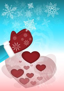 Free Snowflakes Turn Into Hearts Stock Photography - 29766932