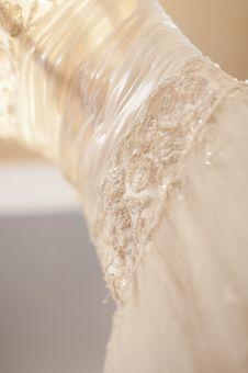 Free Luxury Satin White Wedding Dress Royalty Free Stock Images - 29767289