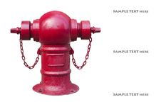 Free Fire Hydrant On White Background Stock Image - 29768301