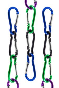 Free Carabiner On Isolated Stock Images - 29768334