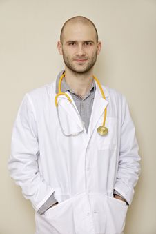 Free Portrait Of A Doctor Stock Image - 29769911