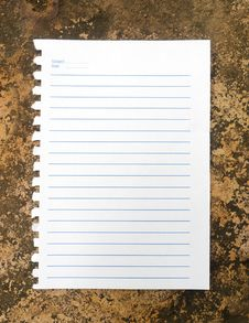 Free Notebook Paper On Rock Stock Photo - 29771300