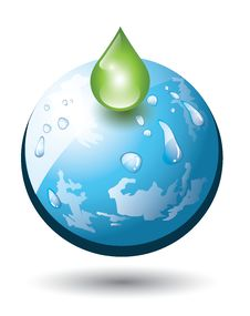 Free Planet Earth With Droplet Stock Images - 29771374