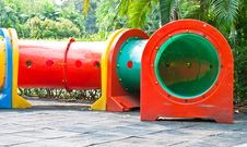 Free Colorful Tube In Playground Stock Photos - 29779783