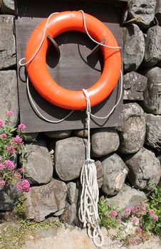 Free Orange Rescue Ring. Royalty Free Stock Photo - 29780425