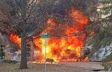 Free Fire On Oak Bluff 1 Royalty Free Stock Photo - 29780545