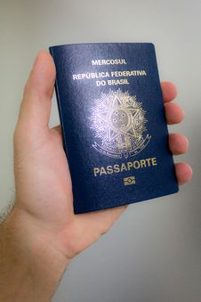 Free Holding A Brazilian Passport - Previous Model Stock Photo - 29781580