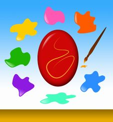 Free Easter Egg Painting Stock Images - 29788844
