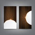 Free Wood And Sparks Theme Business Card Template Royalty Free Stock Image - 29791596