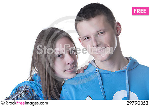 Free Portrait Of Young Happy Couple Stock Photos - 29790353