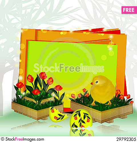 Free Chicken In A Box Royalty Free Stock Photo - 29792305
