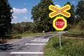Free Dangerous Railroad Crossing. Royalty Free Stock Photos - 2980288