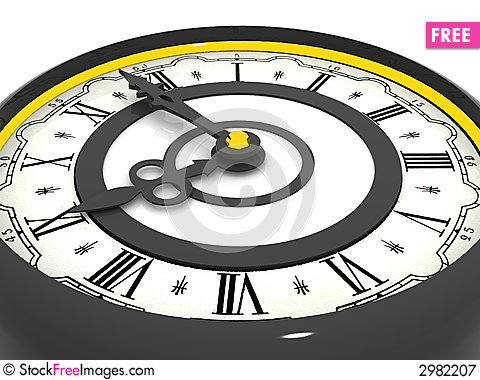 Free Clock. Nine O Clock Royalty Free Stock Photography - 2982207