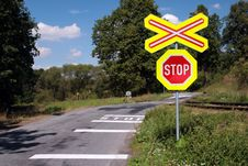 Free Dangerous Railroad Crossing. Royalty Free Stock Photos - 2980288