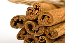 Free Cinnamon Spicy Sticks Close-up Royalty Free Stock Images - 2980789