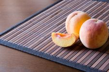 Free Peaches On A Napkin Stock Photo - 2981240